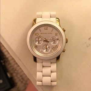Micheal Kors Gold and Silicone Watch